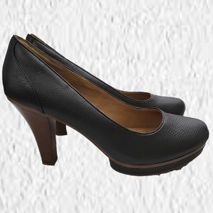 Sofft heels shoes black brown  size 11 W leather